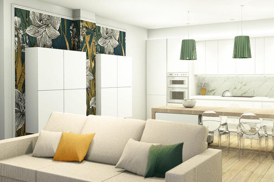 Vista soggiorno Appartamento 12