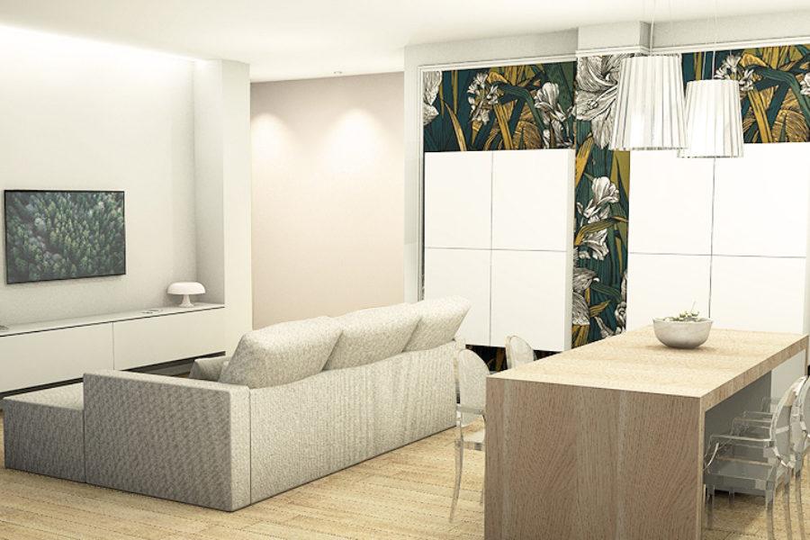 Vista salotto Appartamento 12