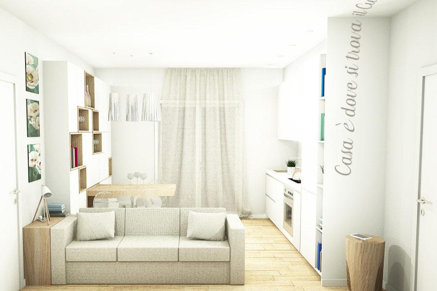 Vista soggiorno Appartamento 25