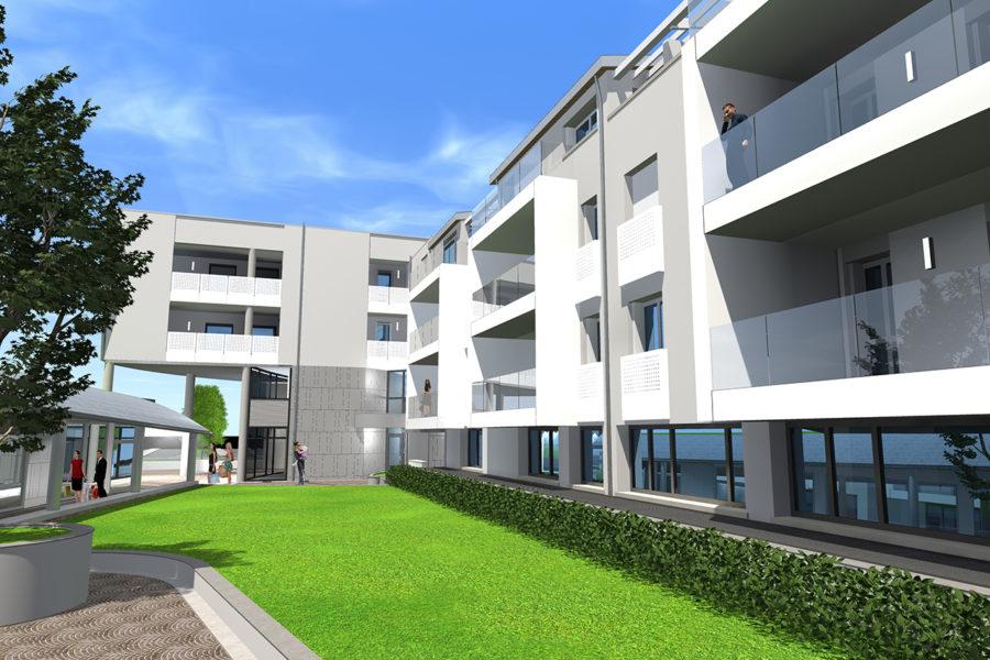 Corte interna uffici e appartamenti