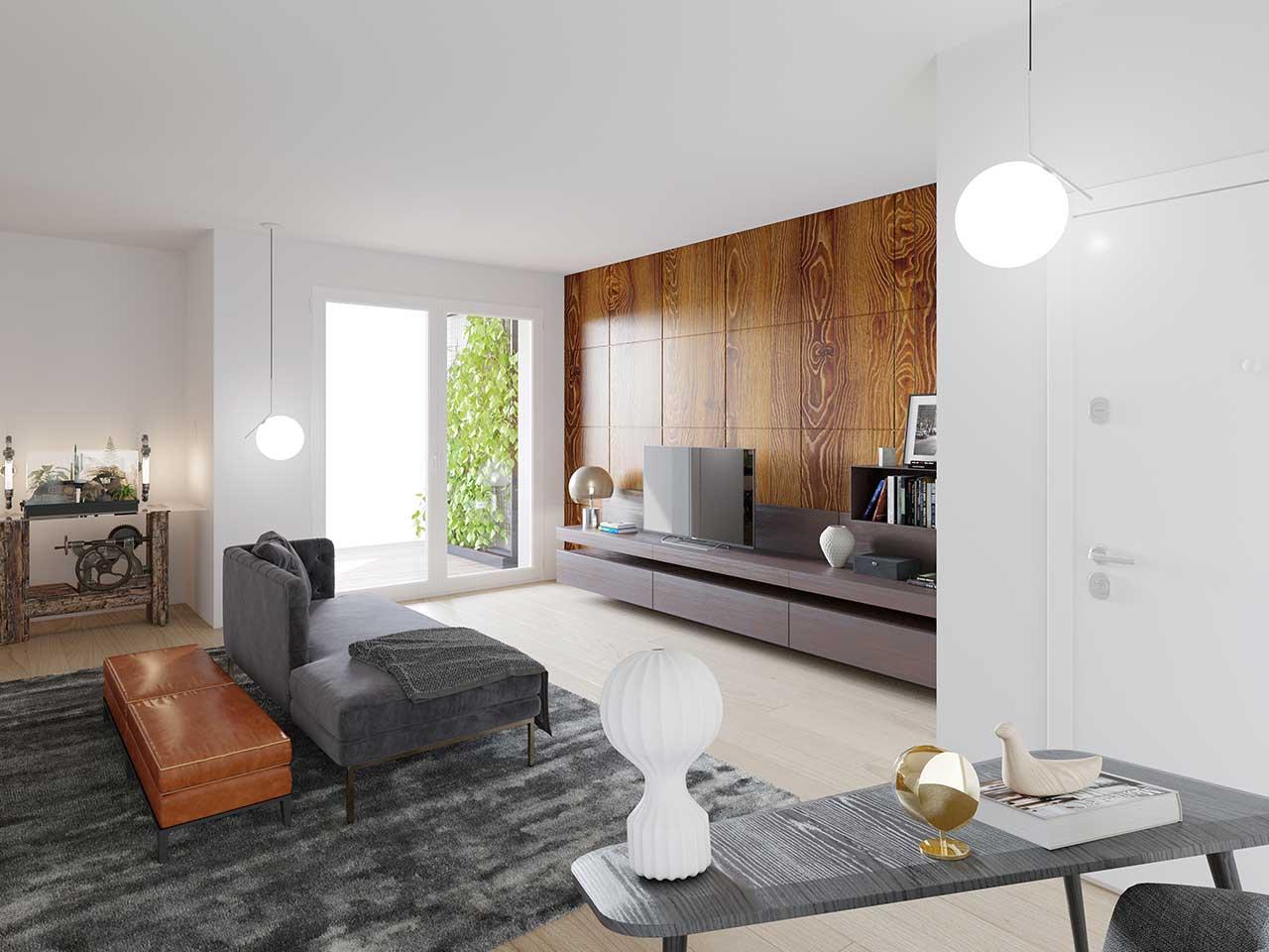 Vista soggiorno Appartamento 15